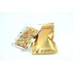 ถุงซิปแบนหน้าขุ่นหลังทอง15*22cm (50ใบ)