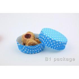 กระทงอบขนม PET 80/25 สีฟ้าจุด
