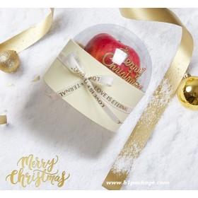 กล่องของขวัญฝาโดม สีขาว