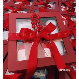 กล่องของขวัญ premium box สีแดง