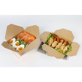 กล่องอาหารกระดาษคราฟหูเกี่ยว เบอร์5