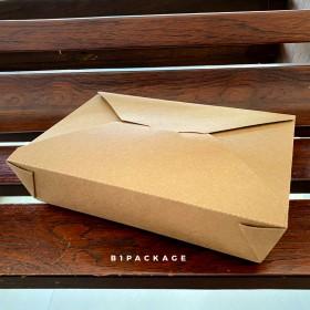 กล่องอาหารกระดาษคราฟหูเกี่ยว เบอร์2/50ชุด