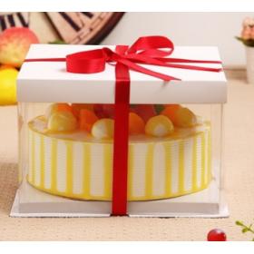 กล่องเค้ก pvc สีขาว (4ปอนด์)