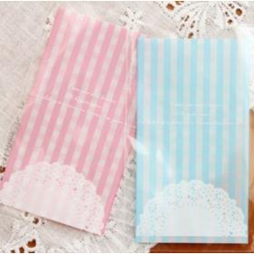 ถุงคุ้กกี้แถบกาวสีฟ้า 7x10cm