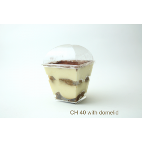 ชุดถ้วยมูสเหลี่ยม ch40 พร้อมฝาโดม