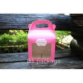 กล่องคุ้กกี้500กรัม PREMIUM สีชมพู 10ใบ