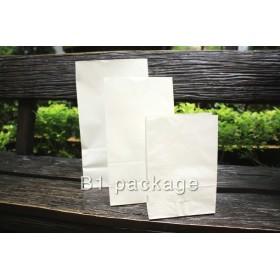 ถุงกระดาษมีก้นตั้งได้ ขาว 12*5*17ซม 100ใบ