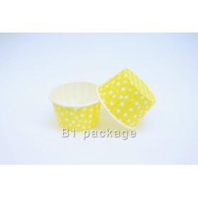 ถ้วยอบคัพเค้ก 44/35 สีเหลืองจุด