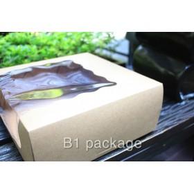 กล่องเค้ก 2 ปอนด์ เจาะล้ำข้าง คราฟ
