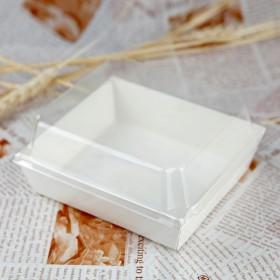 กล่องแซนวิช/takeaway จตุรัส สีขาว 50ชุด