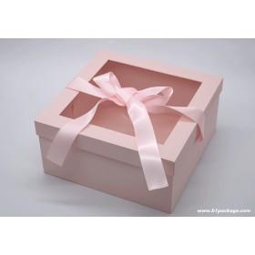 กล่องของขวัญ premium box ชมพู
