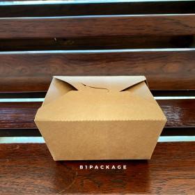 กล่องอาหารกระดาษคราฟหูเกี่ยว เบอร์1/50ชุด