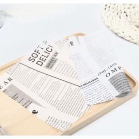 กระดาษรองขนมพิมพ์ลายหนังสือพิมพ์ 18*18cm