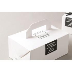 กล่องคุ้กกี้สีขาวหูหิ้วขนาด 13.5*20*9ซม
