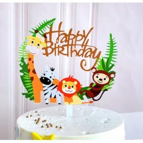 ป้ายปัก happy birthday acrylic ลายการ์ตูน