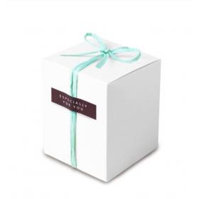 กล่องคุ้กกี้สีขาว ขนาด 10*10ซม 10ใบ