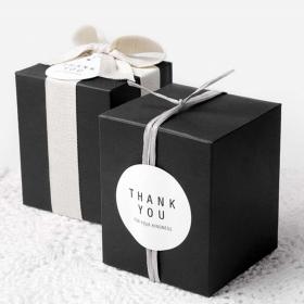 กล่องคุ้กกี้ สีดำ ขนาด 10*10ซม 10ใบ