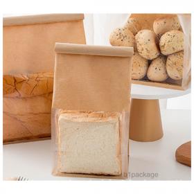 ถุงขนมปังพลาสติก คราฟ SIZE S /50ใบ