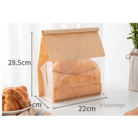 ถุงขนมปังพลาสติก คราฟ SIZE L/50ใบ