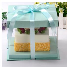กล่องเค้ก pvc สีเขียว  (2-3ปอนด์)