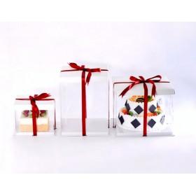 กล่องเค้กpvcสูงพิเศษ สีขาว 2-3ปอนด์