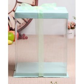 กล่องเค้กpvcสูงพิเศษ สีเขียว 2-3ปอนด์