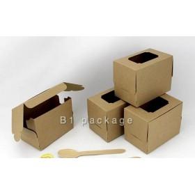 กล่องเค้ก 1 ชิ้น คราฟ แพค 20ใบ