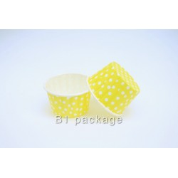 ถ้วยอบคัพเค้ก50/39 สีเหลืองจุด
