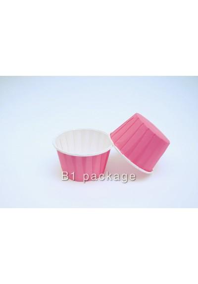 ถ้วยอบคัพเค้ก 44/35 สีชมพู