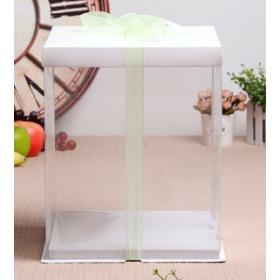 กล่องเค้กpvcสูงพิเศษ สีขาว4 ปอนด์