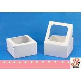 กล่องเค้ก1ปอนด์สีขาว