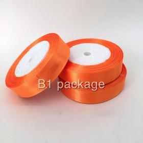 ริบบิ้นผ้าซาติน หนา2ซม สีส้ม