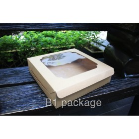 กล่องบราวนี่/พาย 2ปอนด์ เตี้ย คราฟ