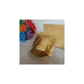ถุงซิปฟอยด์ทองทึบตั้งได้ 12x20cm